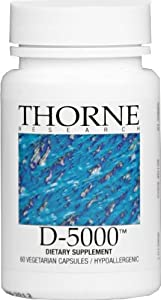 THORNE RESEARCH - Vitamin D-5,000 - 60ct [Health and Beauty]