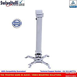 Swiveltelli Projector Mount With Adjustable Height And Collapsible System