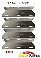 bbq-parts SPA231 (4-pack) Stainless Steel BBQ Gas Grill Heat Plate, Heat Shield, Heat Tent, Burner Cover, Vaporizor Bar, and Flavorizer Bar for Costco Kirland, Glen Canyon, Jenn-air, Nexgrill, Sterling Forge, Lowes (17 3/4 from bbq-parts