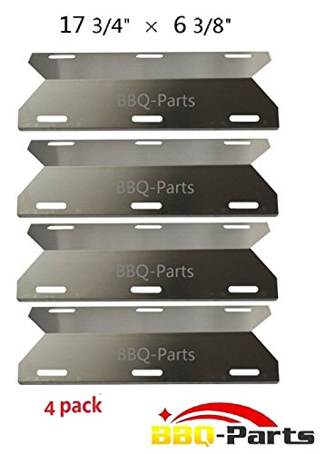 Hongso SPA231 (4-pack) Stainless Steel BBQ Gas Grill Heat Plate, Heat Shield, Heat Tent, Burner Cover, Vaporizor Bar, and Flavorizer Bar for Costco Kirland, Glen Canyon, Jenn-air, Nexgrill, Sterling Forge, Lowes (17 3/4 (Jenn Air Parts Grill compare prices)