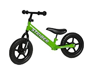 Strider ST-2 PREbike Balance Running Bike, Green