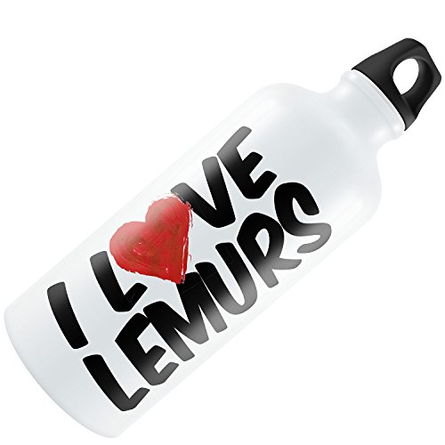 Water Bottle I Love Lemurs 20oz / 600ML