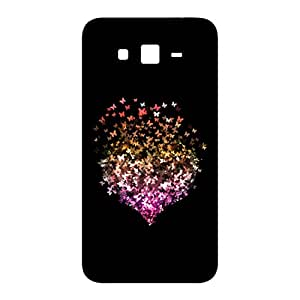 100 Degree Celsius Back Cover for Samsung Galaxy Grand Duos I9082 (Butterfly & Heart Black)