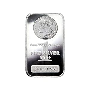 One Troy Ounce Fine Silver 999+ - Made in USA - Morgan Design