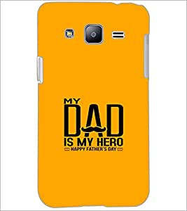 PrintDhaba Happy Father's Day D-1216 Back Case Cover for SAMSUNG GALAXY J2 (Multi-Coloured)