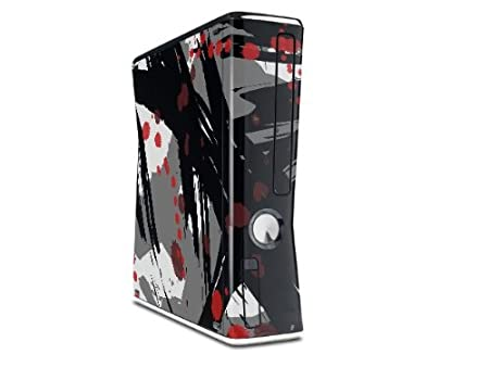 Abstract 02 Red Decal Style Skin for XBOX 360 Slim Vertical