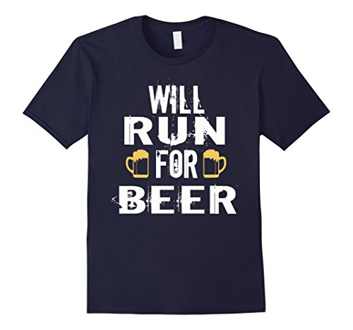 Men's Run Beer Shirt- Will run for beer shirt XL Navy (Will Run For Beer Shirt compare prices)