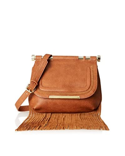 Steve Madden Women's Lottie Long Fringe Cross-Body, Cognac