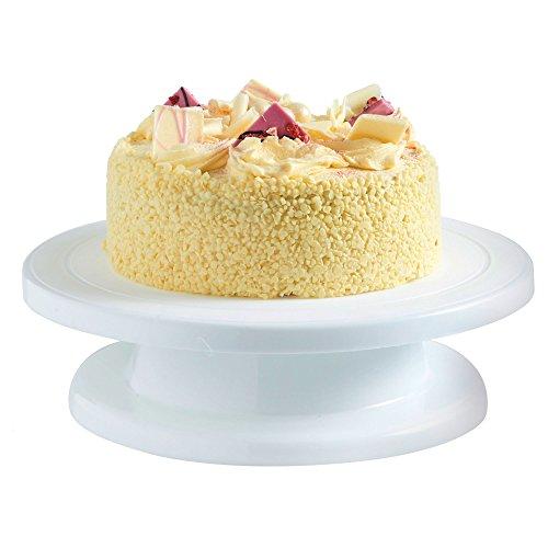 VonShef Plateau tournant pour décoration gâteau - pâtisserie 27,5 cm