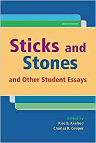 Sticks and stones and other student essays thompson