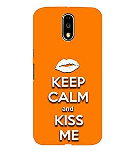 EPICCASE Keep Calm and Kiss Mobile Back Case Cover For Moto G4 / G4 Plus (Designer Case)