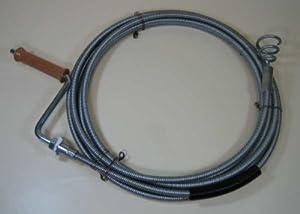 Rohrreinigungsspirale 10mm 15m lang mit auswechselbarem Trichterbohrer    Bewertungen