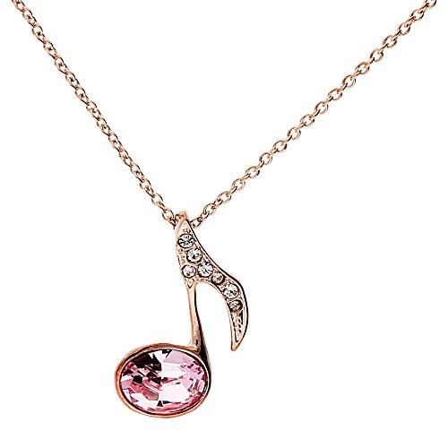 Mya da donna collana con note musicali e chiave ciondolo in oro Rosa placcato oro Rosa MYARGKET-7