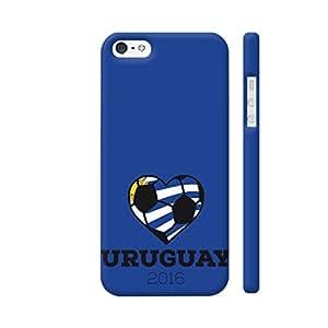 Colorpur Uruguay Soccer Shirt 2016 Artwork On Apple iPhone SE Cover (Designer Mobile Back Case) | Artist: Torben