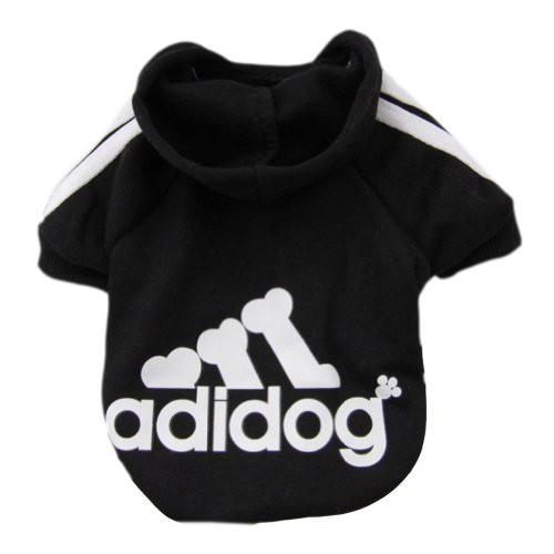 Zehui Pet Dog Cat Sweater Puppy T Shirt Warm Hoodies Coat Clothes Apparel Black XXL