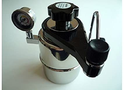 CX-25P Bellman Stovetop Espresso Maker w Pressure Gauge at amazon