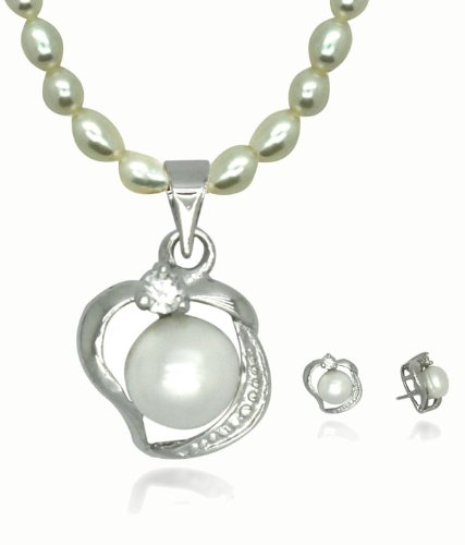 Beauty RSD Alluring Beauty Locket Pearl Set.DSNPS136 (White)