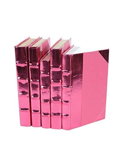 Set of 5 Metallic Collection Books, Pink
