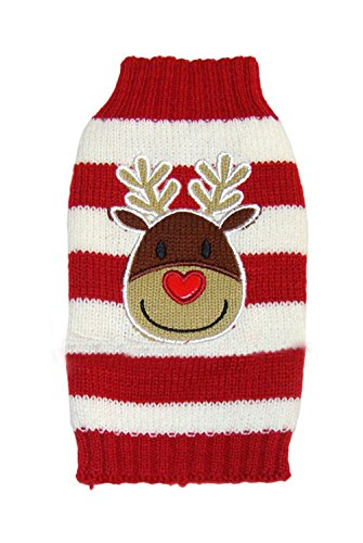 Christmas Freerun Pet Cute Christmas Elk Pet Cartoon Christmas Elk Dog Sweater Cat Clothes - Red,