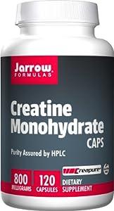 Jarrow Creatine Monohydrate Capsules (Gluten Free, 800mg, 120 Capsules)