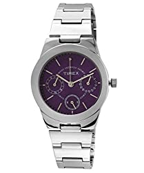 Timex E-Class Analog Purple Dial Womens Watch - J101