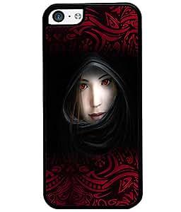 Fuson Red Eyes Girl Back Case Cover for APPLE IPHONE 5C - D3925