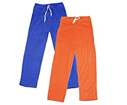IndiWeaves Women Super Combo Pack 4 (Pack of 2 Lower/Track Pant and 2 T-Shirt)_Blue::Orange::Red::White_XXL