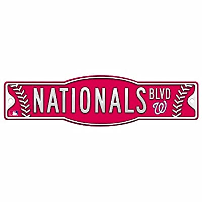 MLB Washington Nationals 4.5-by-17 Sign