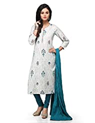 White Cotton Readymade Kurti With Legging