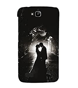 Romantic Couple 3D Hard Polycarbonate Designer Back Case Cover for Huawei Honor Holly :: Honor Holly