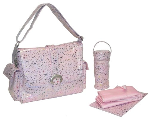 Laminated Buckle Bag in Soap Bubbles Pink