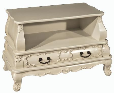 Shabby Chic Cream Ornate TV Cabinet French Style Furniture television Black Friday & Cyber Monday 2014