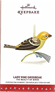 2016 Hallmark Keepsake Ornament Limited Edition Lady Pine Grosbeak