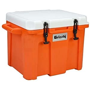 Grizzly Coolers 60 Quart Ice Chest - Orange