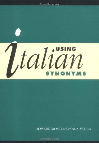 Using Italian Synonyms Paperback
