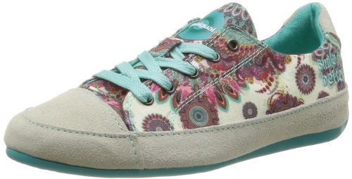 DESIGUAL Womens Sneaker Urban Low 3 Trainers 41KS121406336 Verde Free 3.5 UK, 36 EU