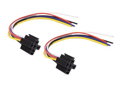 Absolute Usa 5-Pin 12 Vdc Interlocking Relay Socket, 2 Set