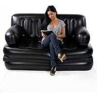 J GO 5 in 1 Air Sofa Cum Bed Airbed Cauch Air Lounge Free AC Air Pump