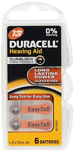 Duracell EasyTab batterie de l'aide auditive 13 PR48 (6-pack)