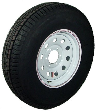 15″ x 6″ White Modular Trailer Wheel  bias ST22575D15C