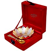 Silver Gold Plated Floral Shaped Bowl Set Of 2 Pieces From The House Of IndianCraftVilla . Can Be Use As Kitchenware...