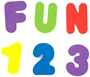 36 Bath Foam Letters and Numbers (Letters A-Z; Numbers 0-9)