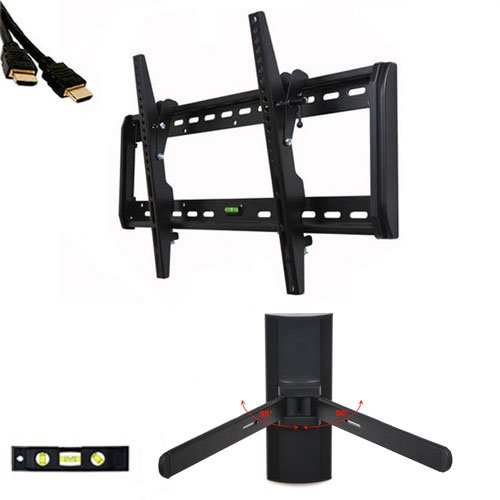 """Videosecu Tilt Tv Wall Mount For Most 32""""-55"""" Plasma Lcd Led Tv Flat Panel Display With Dvd Dvr Vcr Wall Mount Mf607Bk M24"""