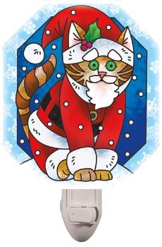 Night Light-NL441R-Christmas Cat