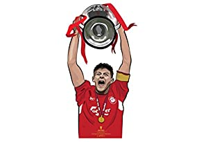 Steven Gerrard European Cup Liverpool Wall Sticker Design by Kieran Carroll-Medium by Kieran Carroll