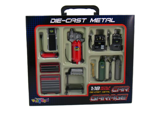 Die-cast Metal Car Garage Accessories 1:18 Scale