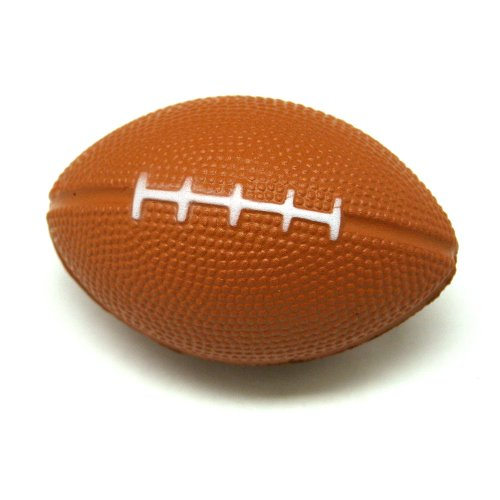 "One Stress Ball Foam Brown Mini Football - 4"" - 1"