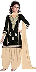 Expert Women's New Fashion Designer Fancy Wear Todays Low Price Best Special Offer All Type Of Modern Black Colored Embroidered Patiyala Salwar Suit