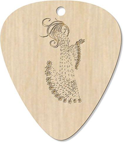 8 x Floral Coat Woman Engraved Guitar Pick / Plectrum / Pendant (GP00004162)