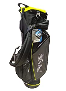 NEW Ping Hoofer II Charcoal Black Leaderboard Lime Carry Stand Golf Bag by Ping